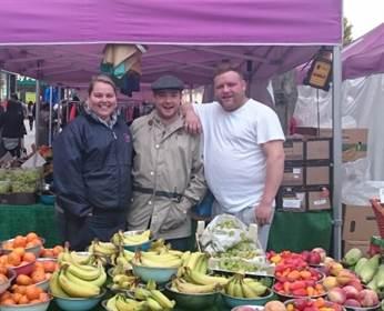Fruit and veg stall, Hounslow market