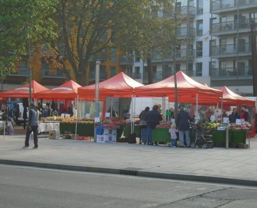 Trade in London - Rathbone Market