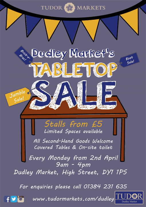 Dudley Tabletop Sale 2018